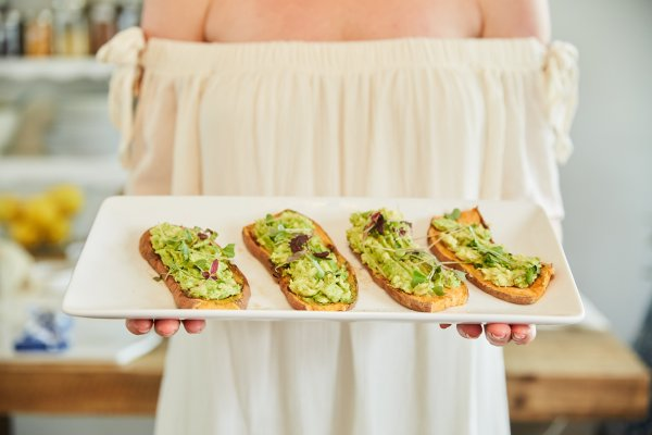 sweet potato avocado toast